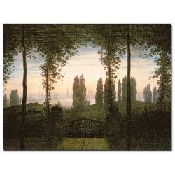 Caspar Friedrich 'Remembrence of Johann Bremen' Canvas Art