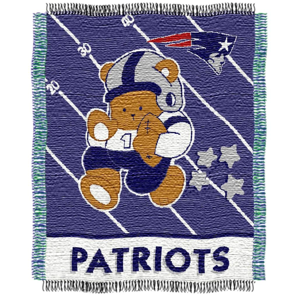 Northwest New England Patriots Woven Jacquard Acrylic Baby Blanket