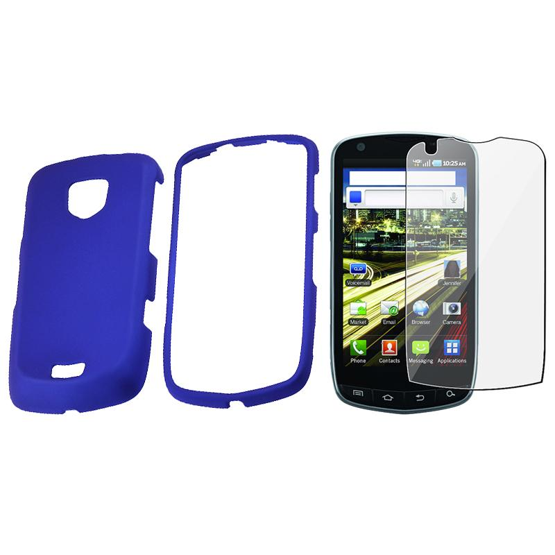 Blue Case/ Screen Protector for Samsung Droid Charge