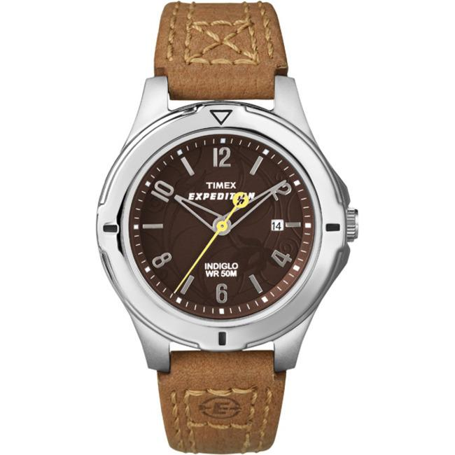 Timex T498569J Women's Expedition Field Brown Dial Burnt Sienna Leather Strap Watch