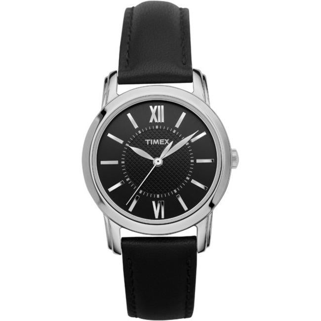 Timex T2N6819J Women's Elevated Classics Dress Uptown Chic Leather Strap Watch - Thumbnail 2