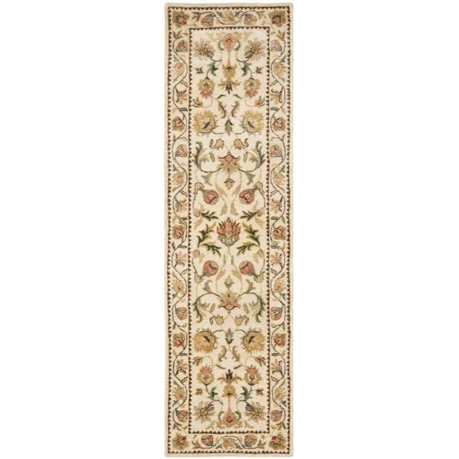 Safavieh Handmade Eden Ivory Hand-spun Wool Rug (2'3 x 10')