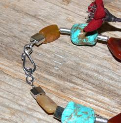 Susen Foster Silverplated Life Changes Multi-gemstone Necklace
