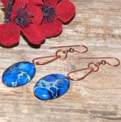 Susen Foster Copper Horizon Blue Variscite Earrings