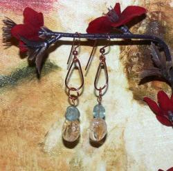 Susen Foster Copper Golden Sunshine Citrine and Apatite Earrings