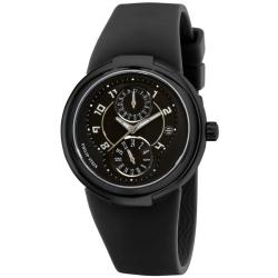 Philip Stein Women's 'Active' Black Rubber Strap Watch
