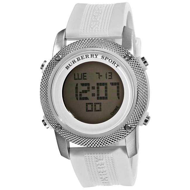 Burberry BU7715 Mens Watch Stainless Steel Case Rubber ...