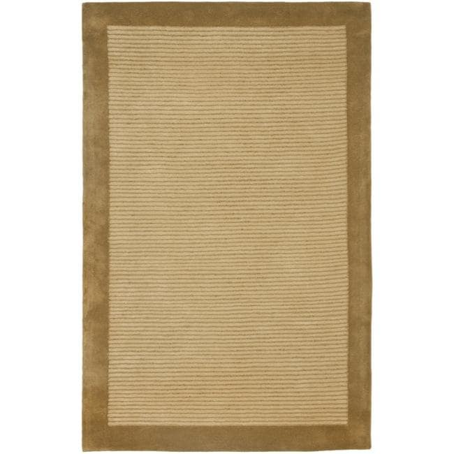 Safavieh Handmade New Zealand Wool Solo Beige Rug (4' x 6')