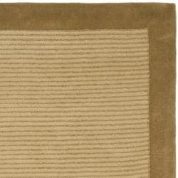 Safavieh Handmade New Zealand Wool Solo Beige Rug (4' x 6') - Thumbnail 1
