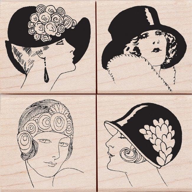Hero Arts 'Fancy Hats' Mounted Rubber Stamp Set