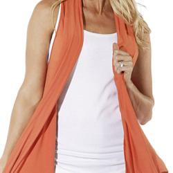 Lilac Clothing's Womens Maternity Nanci Cardi in Orange/Grey - Thumbnail 1