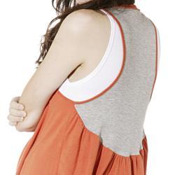Lilac Clothing's Womens Maternity Nanci Cardi in Orange/Grey - Thumbnail 2