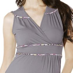 Lilac Clothing's Women's 'Katherine' Grey Maternity Dress - Thumbnail 2