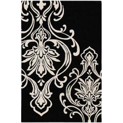 Hand-tufted Tyler Damask Pattern Wool Rug (5' x 8')