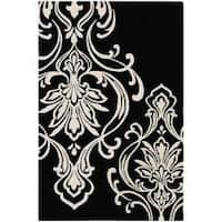 Hand-tufted Tyler Damask Pattern Wool Area Rug (5' x 8')