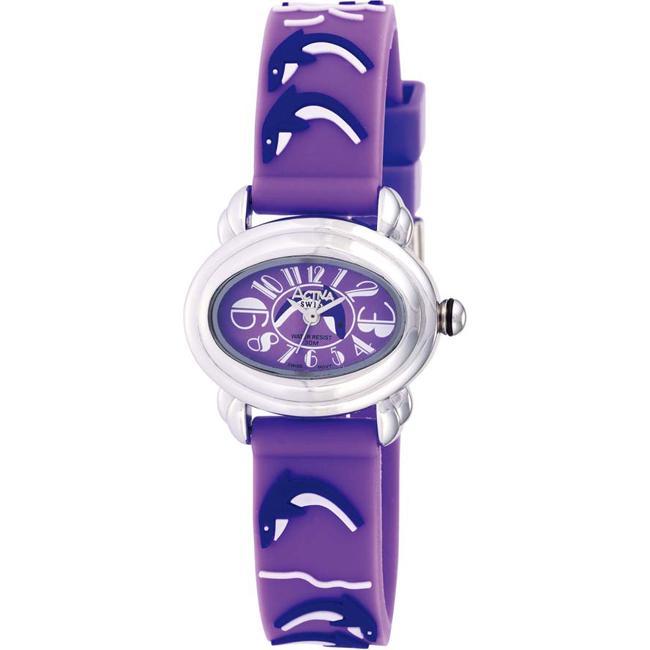 Activa Juniors' Dolphin Design Purple Rubber Watch