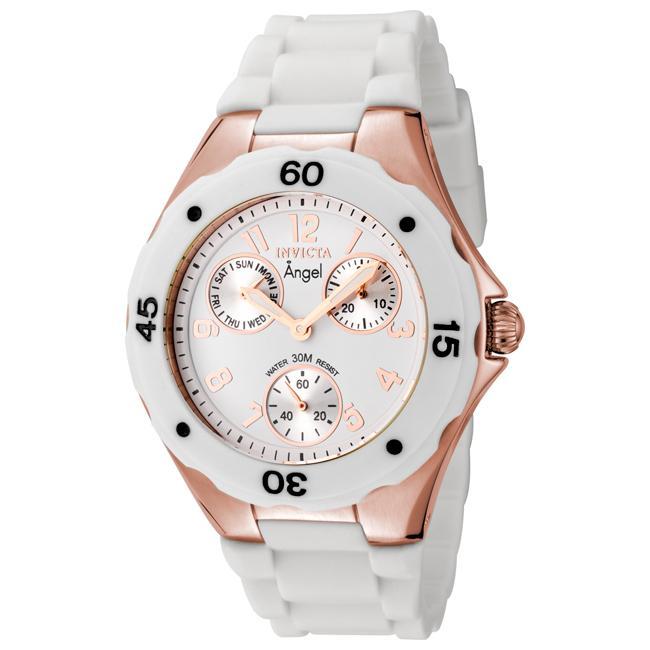 Invicta Women's Angel White Dial White Silicon Watch