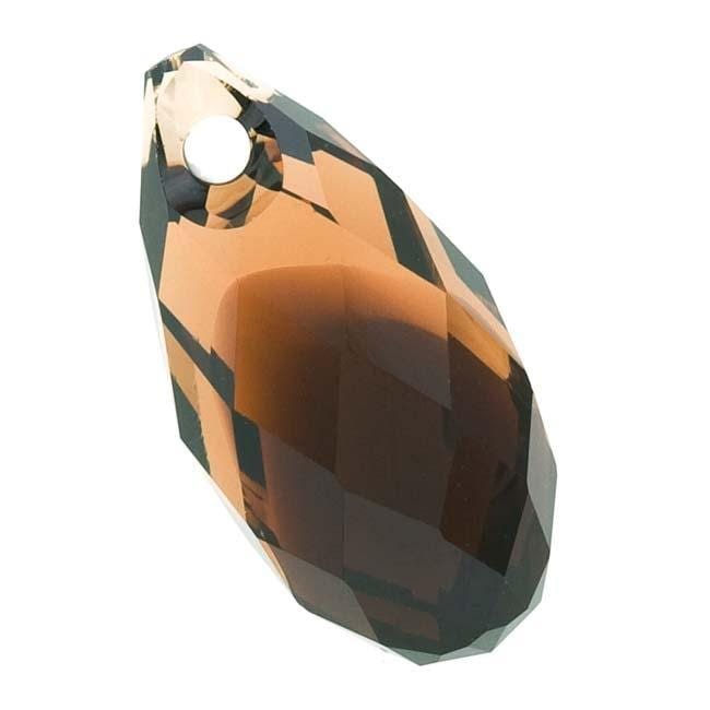 Beadaholique Topaz Blend 11mm Crystal Side Drilled Briolette