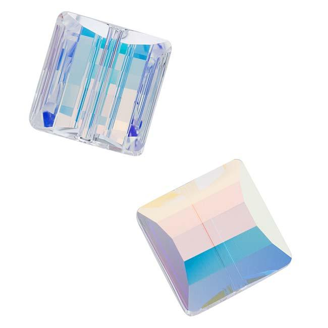 Beadaholique Crystal Ab 14mm Stairway (Square) Bead