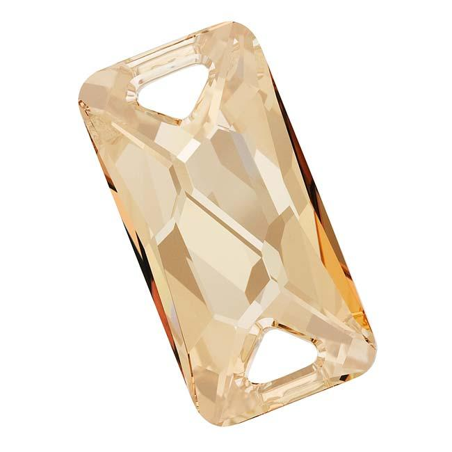 Beadaholique Crystal Golden Shadow 30mm Space Cut Sew-On Stone