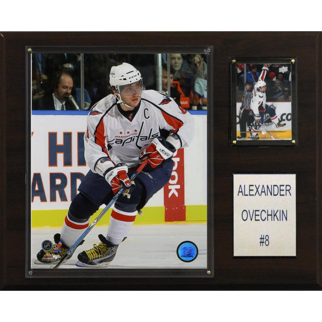 Alex Ovechkin 12x15 Cherry Wood Player Plaque