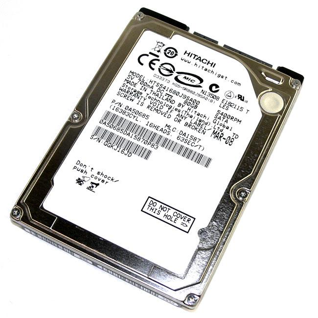 Hitachi HTS541680J9SA00 80GB 5400RPM SATA 2.5-inch 8MB Hard Drive