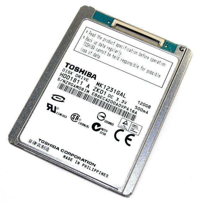 Toshiba MK1231GAL 120GB 4200RPM 1.8-inch ZIF 8MB 5mm Hard Drive