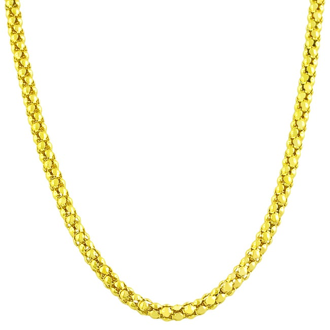 14k Yellow Gold 16-inch Popcorn Chain Necklace
