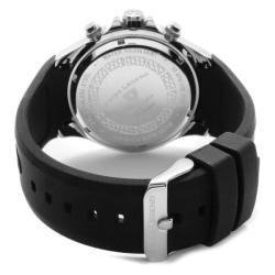 Swiss Legend Men's Eograph Black Dial Black Silicone Chronograph Watch