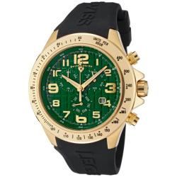 Swiss Legend Men's Eograph Green Dial Black Silicone Chronograph Watch