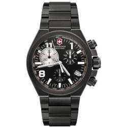 Swiss Army Men's 'Convoy' Chrono Titanium Black PVD Watch