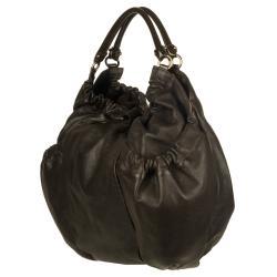 Salvatore Ferragamo Dark Brown Shopper Handbag - Thumbnail 1