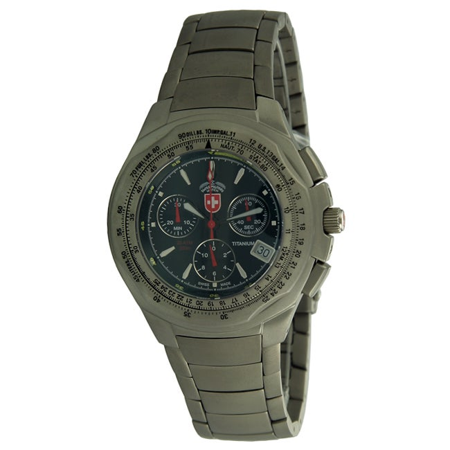 Swiss Military Men's Paratrooper Chronograph Titanium Watch