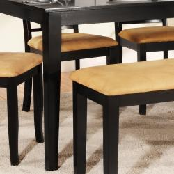 Wilma Black Window Back Cushioned 6-piece Dining Set