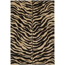 Safavieh Handmade Zebra Beige Hand-spun Wool Rug (4' x 6')
