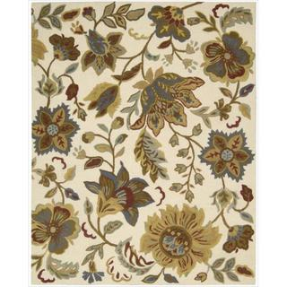 "Hand-Tufted In Bloom Ivory Wool Accent Rug (2'6"" x 4')"