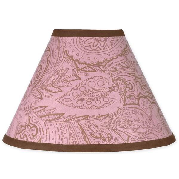 Sweet JoJo Designs Pink and Brown Paisley Lamp Shade