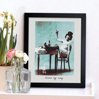 Oliver Gal 'Excuse My Swag' Framed Print Art