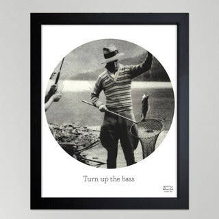 Oliver Gal 'Turn Up The Bass' Framed Paper Wall Decor