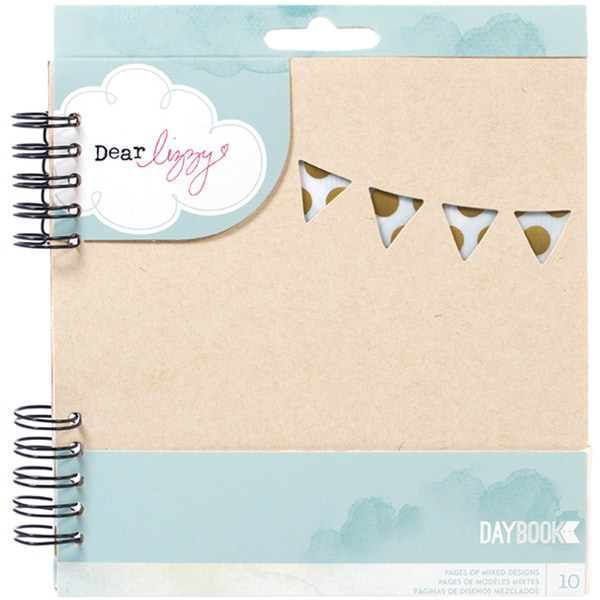 Dear Lizzy 5th & Frolic Spiral Daybook 6X6in-Happy Way