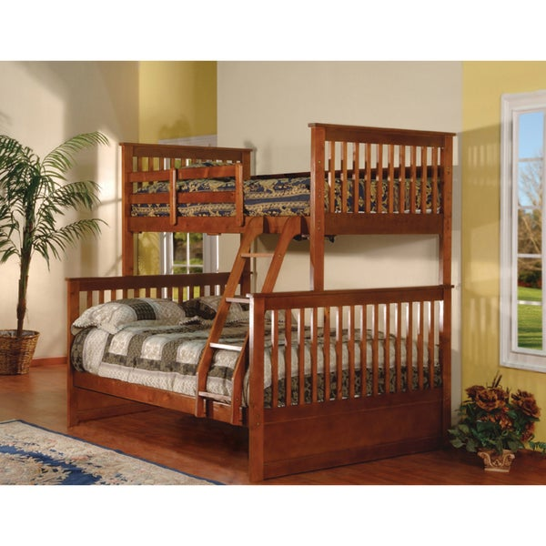 Esprit Walnut Finish Twin/Full Bunk Bed