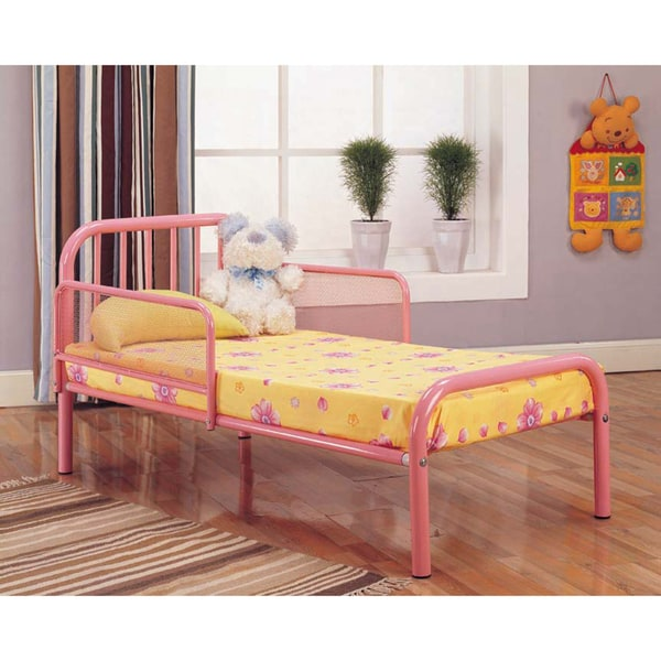 K&B B487P Pink Finish Toddler Bed