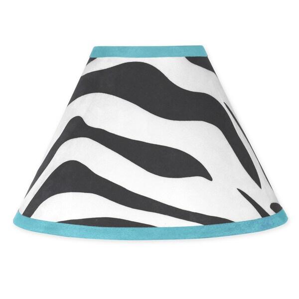 Sweet JoJo Designs Funky Zebra Turquoise Lamp Shade