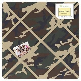 Sweet JoJo Designs Green Camo Fabric Bulletin Board