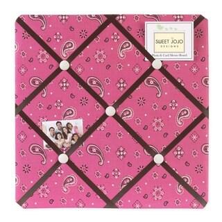 Sweet JoJo Designs Western Cowgirl Pink Photo Bulletin Board