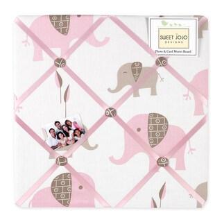 Sweet JoJo Designs Pink and Taupe Mod Elephant Bulletin Board