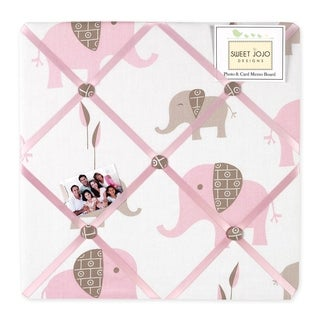 Sweet JoJo Designs Pink and Taupe Mod Elephant Bulletin Board