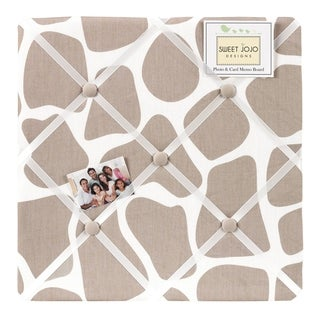 Sweet JoJo Designs Giraffe Tan Fabric Memory Board