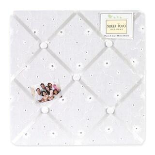 Sweet JoJo Designs White Eyelet Fabric Memory Board