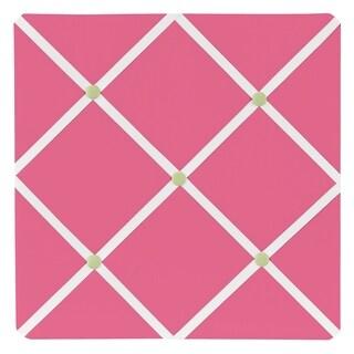 Sweet JoJo Designs Pink and Green Fabric Memory Board